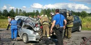 Двое детей пострадали в автоаварии