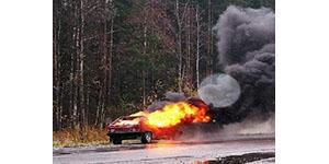 Возгорание автомобиля в Гатчинском районе