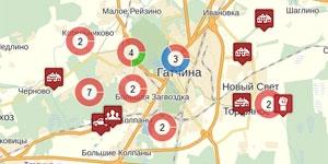 Карта проблем Гатчины и Гатчинского района