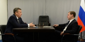 Беседа Дмитрия Медведева с Александром Дрозденко