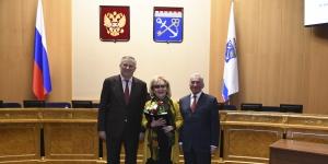 Людмила Иванова награждена знаком отличия за вклад в развитие Ленинградской области