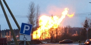 Причиной пожара на газопроводе в Гатчине стал провал грунта