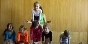 """Открытый урок в детской цирковой студии """"Радуга"""""""