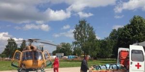 В Гатчину на вертолете доставили пострадавшего
