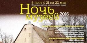 Ночь музеев в Гатчинском районе - 21 мая