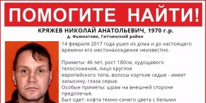 Пропал человек в Гатчинском районе
