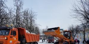 График вывоза снега в Гатчине на неделю